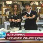 Hoy cocinamos: Agnolotis con salsa cuatro quesos  Mi receta de cocina