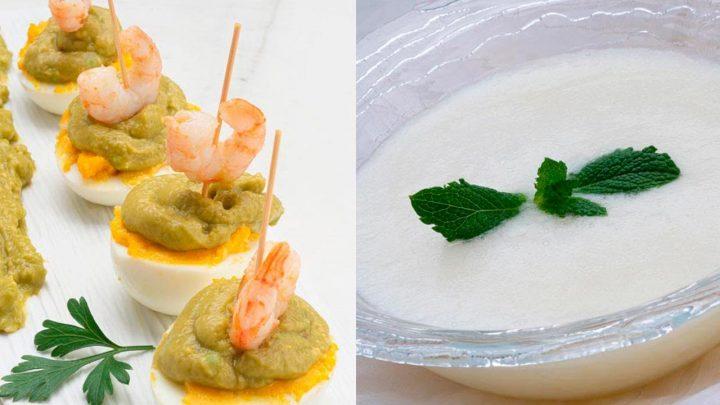 Huevos rellenos con guacamole y gambas - Batido de melón - Cocina Abierta de Karlos Arguiñano