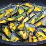 Mejillones en salsa verde, fáciles muy rápidos de preparar y saludables - Loli Domínguez