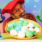 Nueva receta de merengue para los PJ Masks. Cocina para niños. Juguetes en español