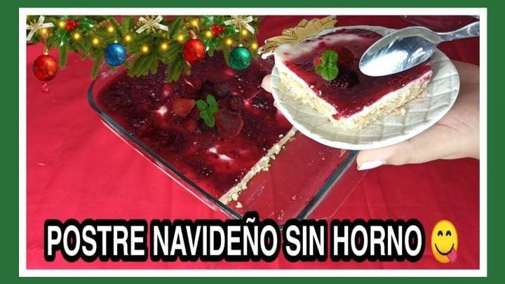POSTRE NAVIDEÑO FÁCIL, DELICIOSO Y SIN HORNO / RECETAS NAVIDEÑAS 2020 / Cocina Con Nelu