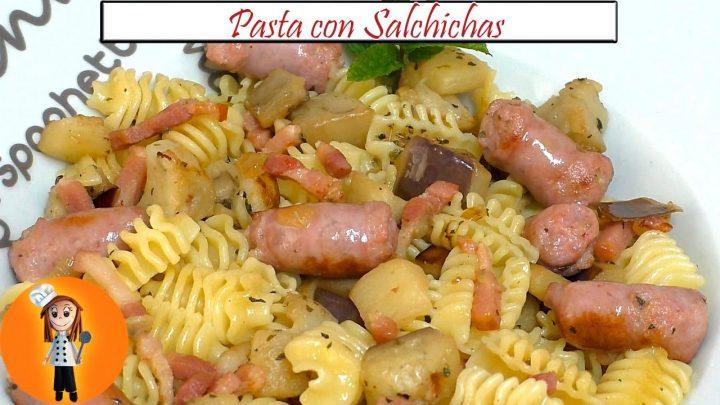 Pasta con Salchichas | Receta de Cocina en Familia