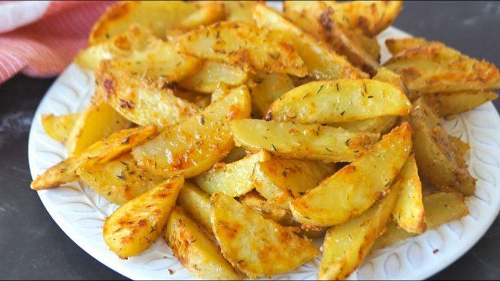 Patatas fritas saludables. ¡TRUCO para que queden crujientes SIN FREÍR!