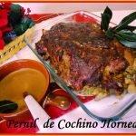 Pernil de Cochino(cerdo) Horneado, receta Navideña Venezolana