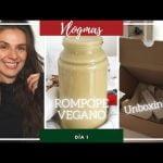🎄ROMPOPE VEGANO | Noticias emocionantes !! | Unboxing! # Vlogmas2020! día 1 Mi receta de cocina