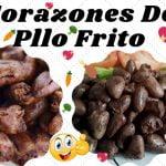 Receta Corazones de Pollo Frito 🥙🍗 Recetas de cocina fácil y rápido.