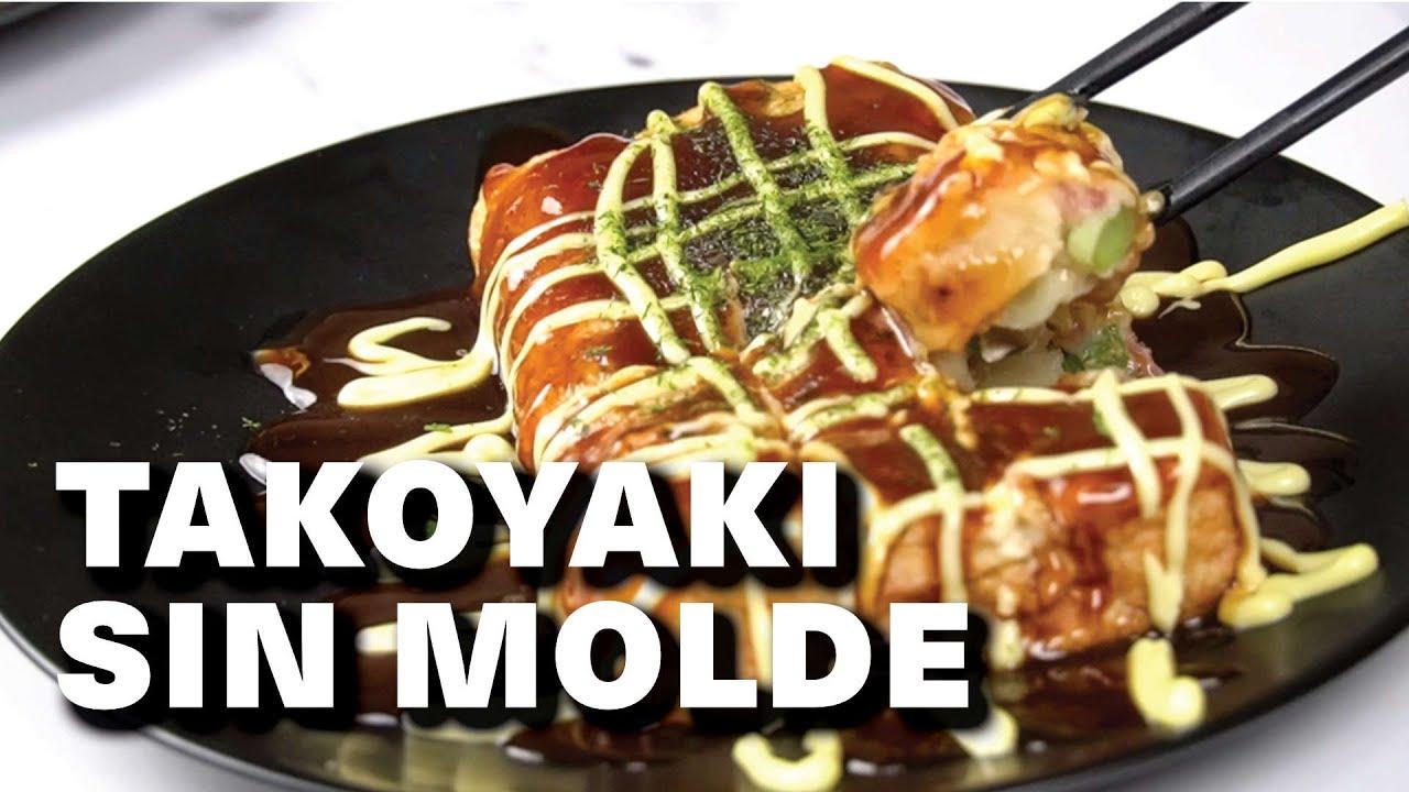 Receta Takoyaki ➡ SIN MOLDE - fácil y delicioso | Cocina Japonesa
