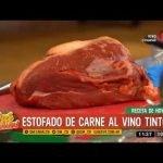Receta de hoy: estofado de carne al vino tinto  Mi receta de cocina
