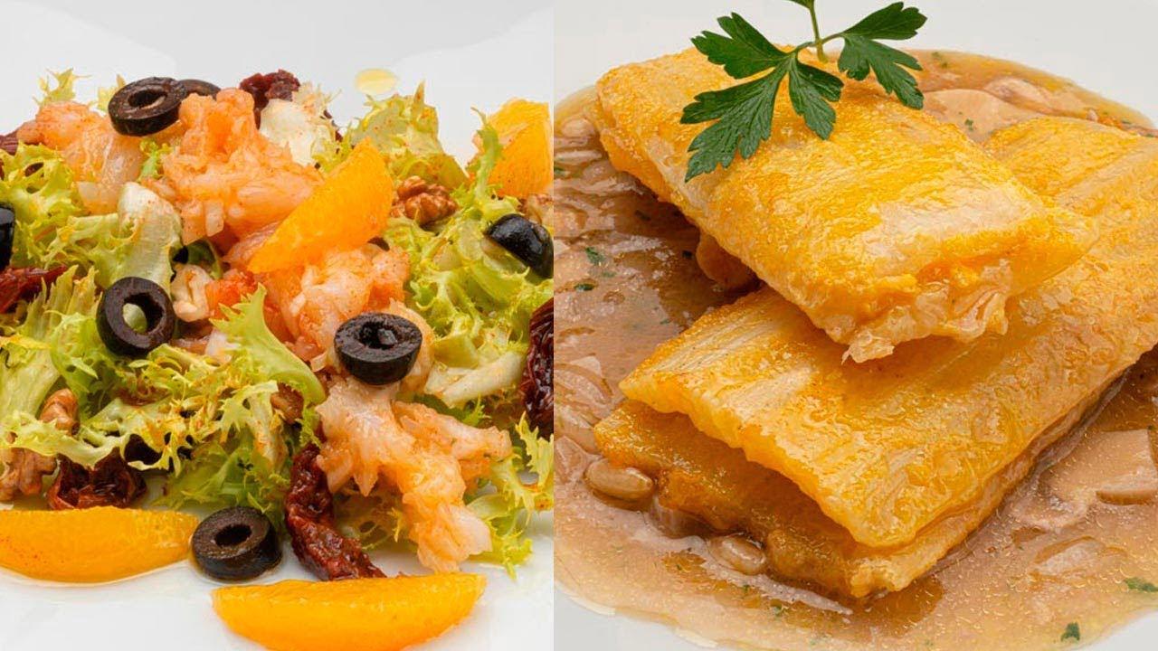 Remojón andaluz o Ensalada de bacalao y naranja - Pencas rellenas de queso - Cocina Abierta