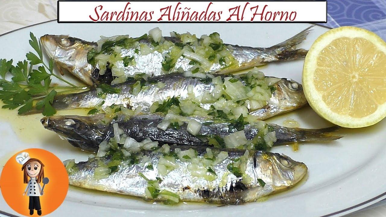 Sardinas al Horno Aliñadas   Receta de Cocina en Familia