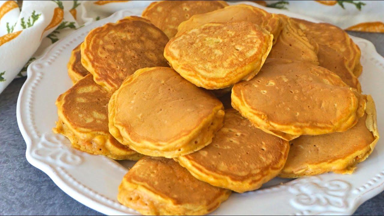 Tortitas de zanahoria. Bizcochitos esponjosos en menos de 10 minutos (SIN HORNO)