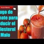 Jugo de Tomate para Reducir el Colesterol Malo y bajar de peso