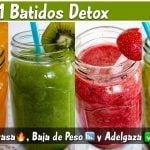✅ 3+1 Batidos Detox - Jugos para QUEMAR GRASA, BAJAR de PESO y ADELGAZAR de Manera Natural 🌿