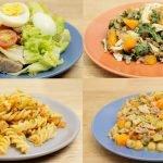 4 RECETAS SALUDABLES PARA PERDER PESO | Ideas Para Hacer El Almuerzo O La Cena