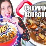 🍄  Champiñones Bourguignon 🇨🇵  Receta francesa versión sana y hechizada para bajar el colesterol 💥