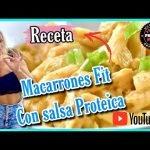🥳Macarrones PROTEICOS con Salsa FIT,SIN GRASA, 😍Receta para bajar de peso, Recetas Fitness
