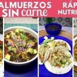 4 almuerzos SIN carne nutritivos y rendidores | Cocina de Addy