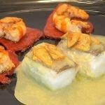 Bacalao al pil pil con pimientos del piquillo y gambas - La Cocina de Loli Domínguez