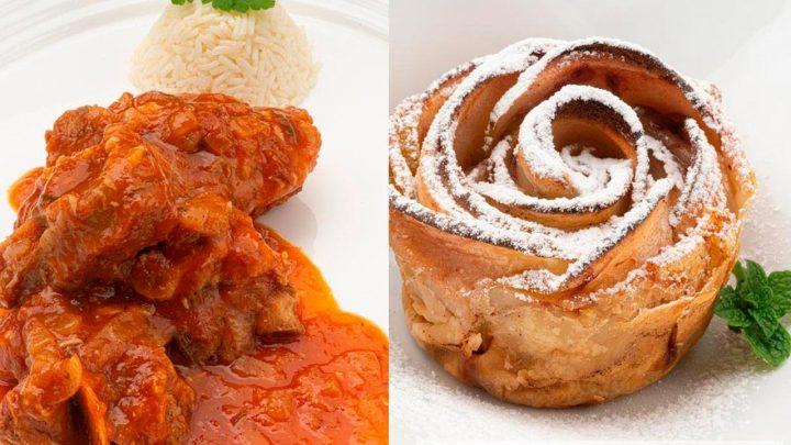 Cordero guisado con tomate y vermut - Rosas de manzana - Cocina Abierta de Karlos Arguiñano