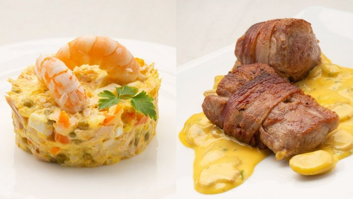Ensaladilla con langostinos - Solomillo con salsa poulette - Cocina Abierta de Karlos Arguiñano