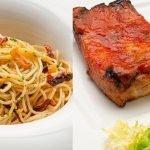 Espaguetis al ajillo - Costilla de cerdo asada - Cocina Abierta de Karlos Arguiñano