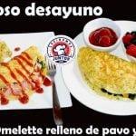 Fácil y delicioso desayuno saludable -(Omelette relleno)