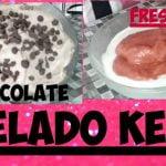 HELADO KETO| chocolate y fresa|postres keto | ICE CREAM  KETO| Low carb  Mi receta de cocina