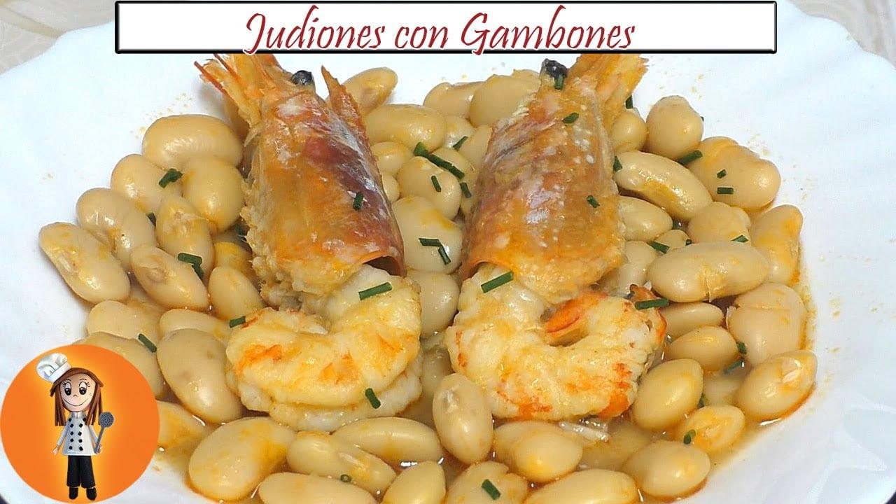 Judiones con Gambones en 30 minutos | Receta de Cocina en Familia