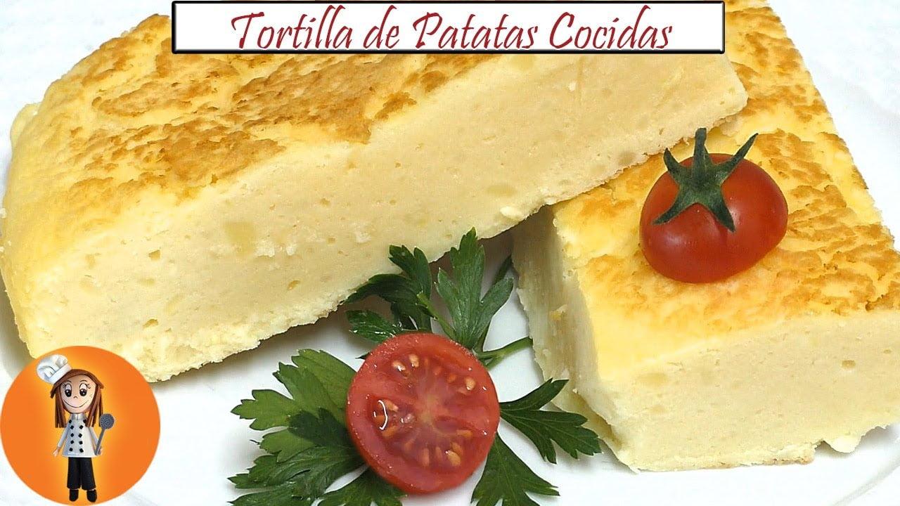 Ligera Tortilla de Patatas Cocidas | Receta de Cocina en Familia