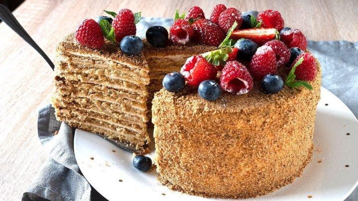MEDOVIK - tarta de miel rusa ORIGINAL. Recetas de postres caseros