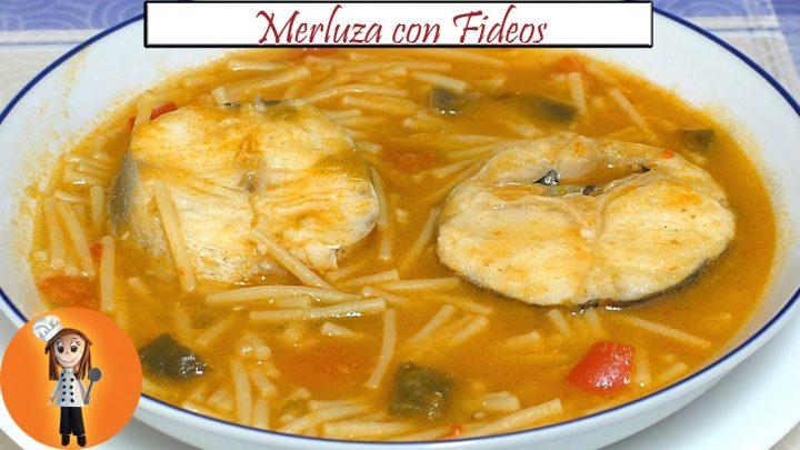 Merluza con Fideos | Receta de Cocina en Familia