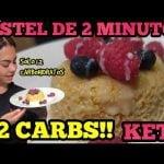 PASTEL KETO EN 2 MINUTOS/ SOLO 1.2 CARBS/ LOW CARB  Mi receta de cocina