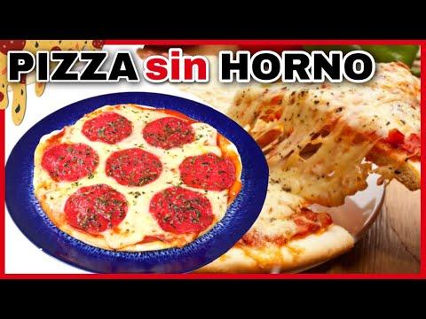 PIZZA SIN HORNO A LA SARTÉN CON MASA CASERA | RECETA RÁPIDA Y SENCILLA | NatyGloss Cocina