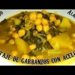 POTAJE DE GARBANZOS CON ACELGAS Y MAJADO DE ALMENDRAS - Recetas de Cocina