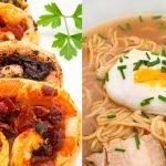Palmeritas de hojaldre saladas - Ramen de pollo - Cocina Abierta de Karlos Arguiñano