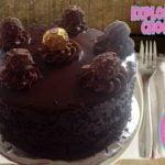 Pastel Explosión de Chocolate/ ganache de chocolate