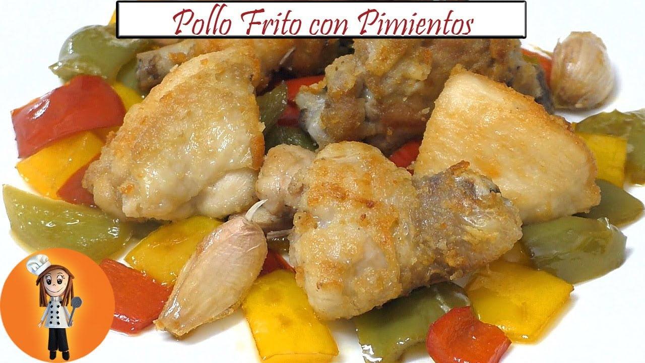 Pollo Frito con Pimientos   Receta de Cocina en Familia