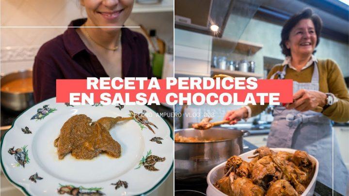 RECETA PERDICES EN SALSA DE CHOCOLATE - MI MADRE EN LA COCINA - VLOG 008