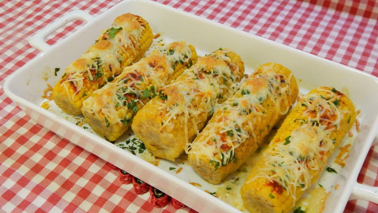 Receta de Maiz al horno con queso mi guarnición favorita