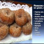 Receta de Roscos de vino sin gluten y sin lactosa, como se hace