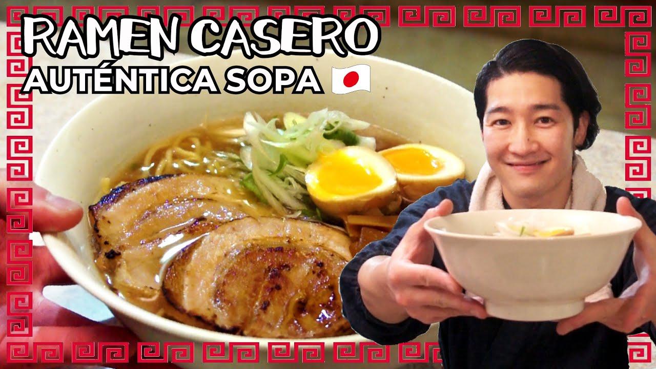 Receta de sopa RAMEN auténtico|Cocina Japonesa