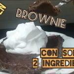Solo °°2 ingredientes°° BROWNIES [(sin Gluten)] . Como hacer Brownies GLUTEN FREE. Mi receta de cocina