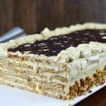 Tarta de galletas y moka 🎂☕️ sin lactosa y sin horno  Mi receta de cocina