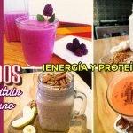 4 licuados para sustituir 1 desayuno ¡Energía y Proteína! para comenzar el día - Cocina Vegan Fácil