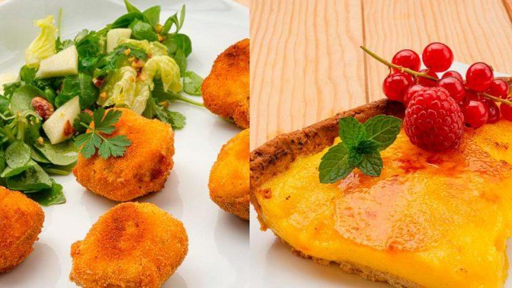 Almejas rellenas con ensalada - Tarta de yema tostada - Cocina Abierta de Karlos Arguiñano