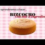 BIZCOCHO ESPONJOSO CON SOLO 3 INGREDIENTES | Receta Fácil | Ricas Ideas En Casa #Bizcocho #Cake  Mi receta de cocina