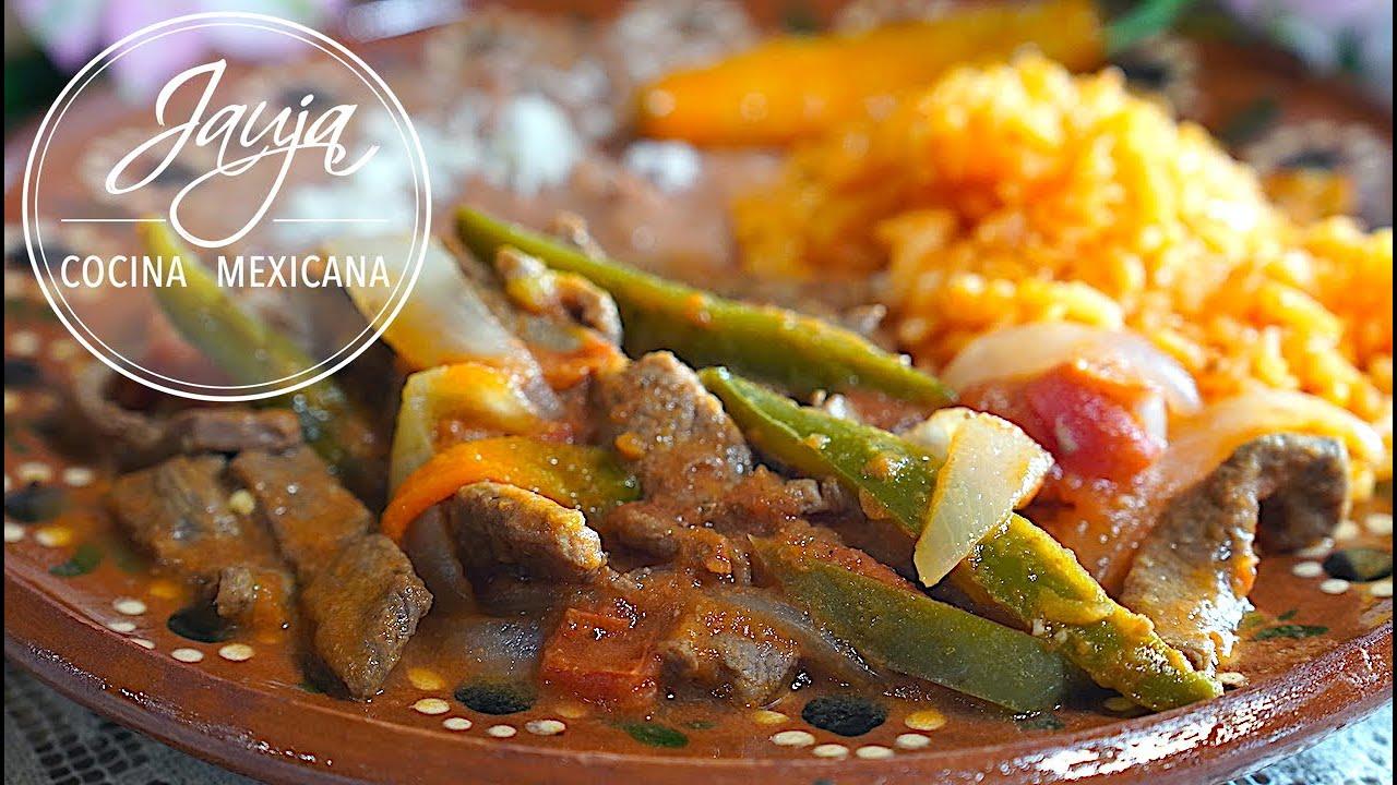 Bistec a la Mexicana. Un Clásico de la Cocina Mexicana Para Comidas De Diario