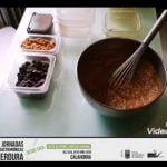 Bizcocho de calabacín, chocolate con coulis de calabaza y zanahoria. Parador de Calahorra.  Mi receta de cocina