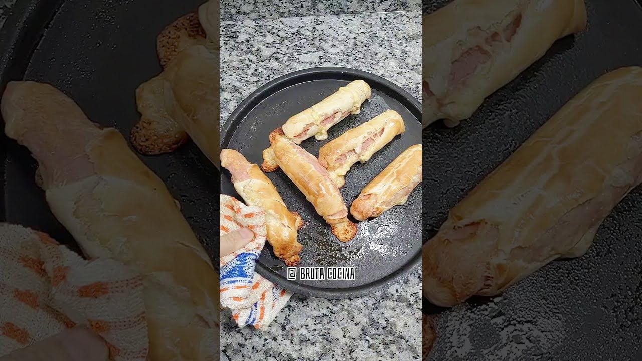 CACHORRITOS receta CON salchichas No puede faltar en tu cumpleaños #shorts #short