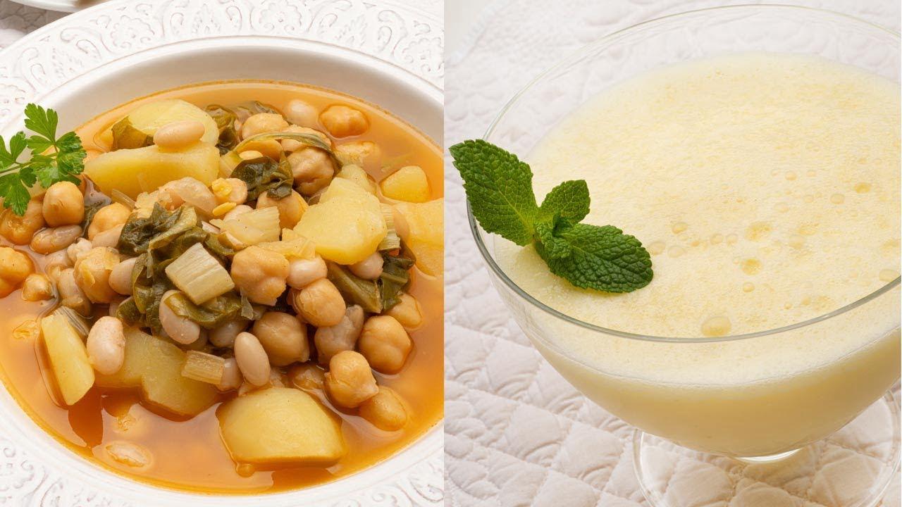 Cocido de acelgas con pringá - Sorbete de piña colada con leche de coco - Cocina Abierta